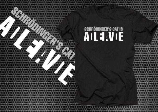 Schrödinger's Cat Dead Alive T shirt Cotton Geek T shirt Shirt Quantum Mechanics