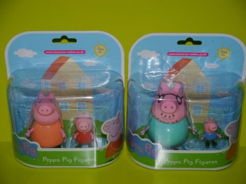 Peppa Pig Figures ~ Daddy Pig /& George Mummy Pig /& Peppa Pig ~ NEW