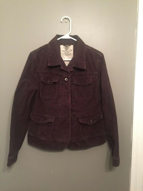 LUCKY BRAND ~ WOMEN'S ~ CORDUROY MILITARY STYLE JACKET ~ SIZE L ~ 06-KH1-A2356