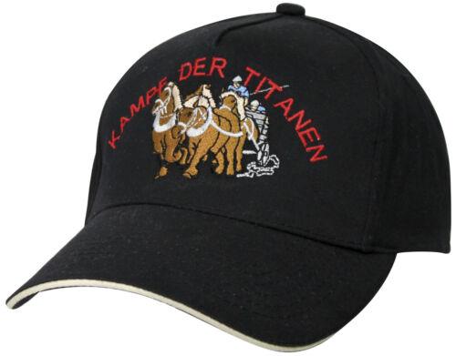 Baseballcap Cap Schirmmuetze Kappe Kaltblut Pferd Kampf der Titanen 68249