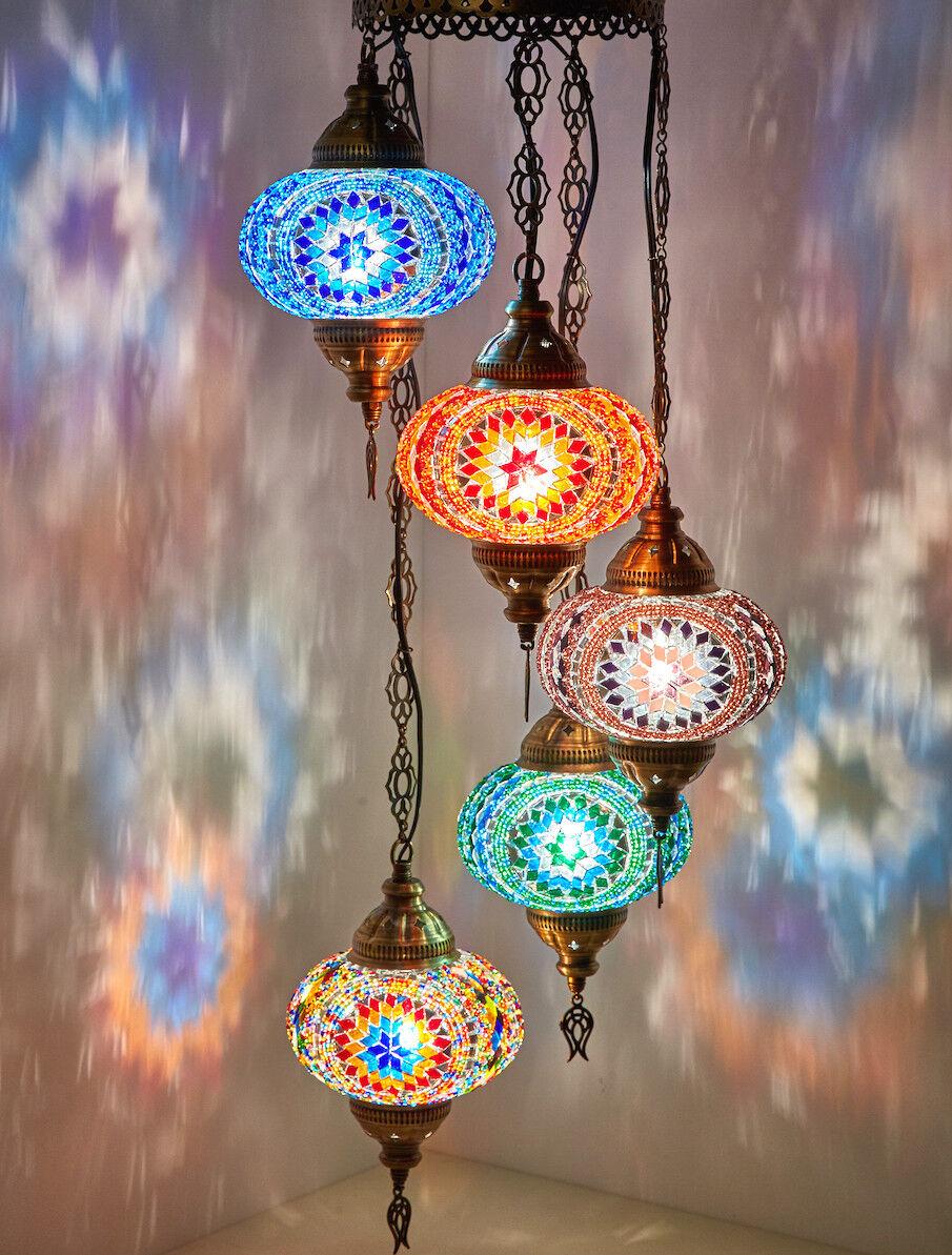 CHOOSE - Turkish MGoldccan Mosaic Hanging Ceiling Pendant Chandelier Light Lamp