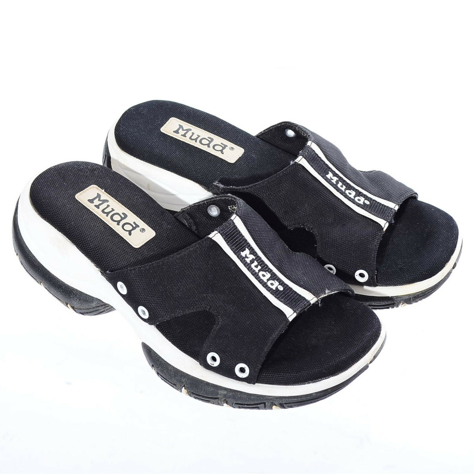 Vtg 90s SPORTY SPORTY SPORTY Y2K Club-Kid Platform Chunky Lug Soles Sandals Slip-On shoes 7 749fa2