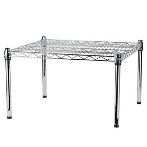 """24"""" x 24"""" x 14"""" Chrome Plated Wire Dunnage Rack - 600 lb. Capacity"""
