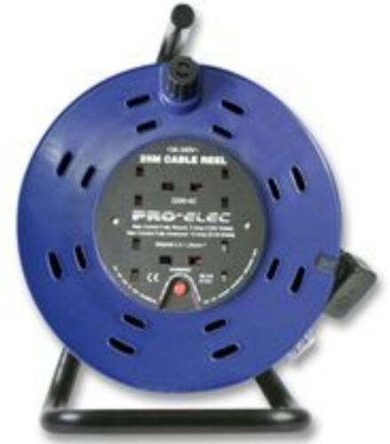 40m Extension Lead  Reel 13A 40 Metre Heavy Duty 4 Sockets Way 1.25mm Cable Gang