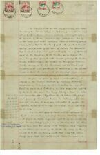 Malaya  BMA Document 18 Sept 1951 - 2 x $25 BMA Opt Stamps