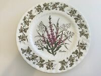 "Flower of Scotland, St. Andrews Pottery, Bone China Plate, Heather, 9 1/4"" Dia"