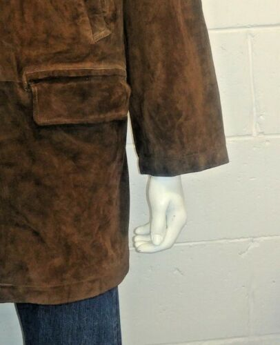 100 Ralph Coat Wool Lauren L Blend Lining Car With Size Polo Leather Suede rgEqg