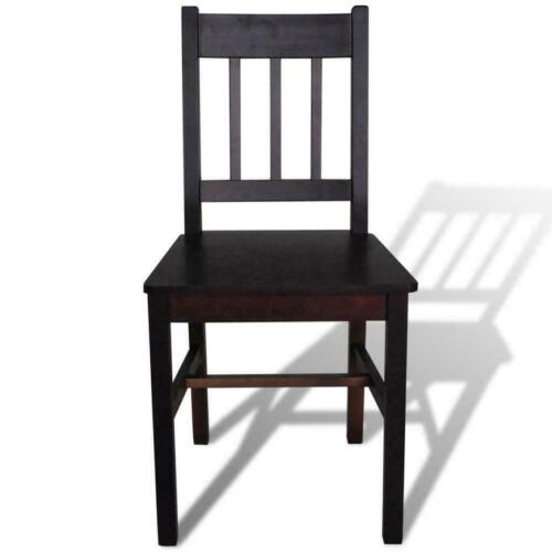 Wooden Dining Chairs 4 Pcs Kitchen Furniture Solid Pine Room Home Breakfast New