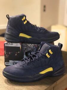 new style d2d26 fb85f Image is loading Nike-Air-Jordan-XII-12-Retro-Michigan-Size-