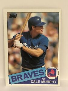 1985-Topps-Dale-Murphy-baseball-card-Atlanta-Braves-NrMt-Mint-320-MLB-Outfield