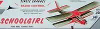 Vintage Schoolgirl Willard's 1/2a 34 3-channel Rcm Model Airplane Plan &article