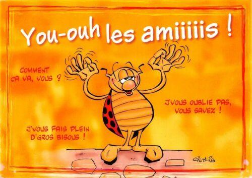 Illustré par Gotlib CPM La Coccinelle Cartolina Postcard