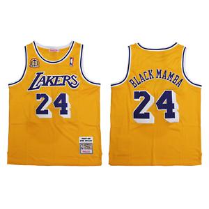 Details about Kobe Bryant Black Mamba Nickname Lakers Mitchell & Ness Gold Jersey