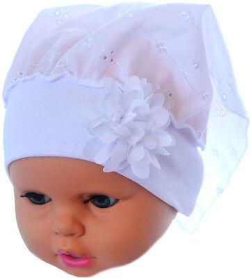 Modest Baby Kopftuch Neugeborene Bis3j Kopfbedeckung Mütze Stirnband Weiß Schleife Warm And Windproof Baby & Toddler Clothing