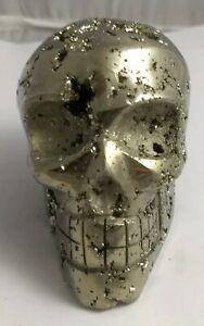 Gorgeous-pyrite-crystal-skull-Peru-496-5-grams-AAA-fools-gold