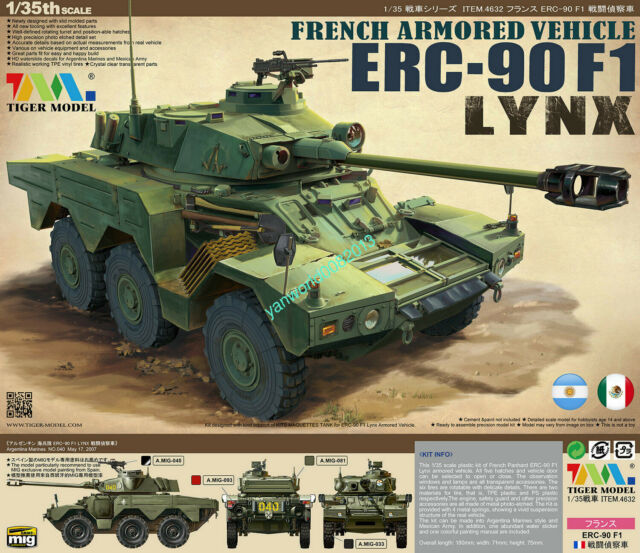 Model Model Tiger TM4632 1/35 French Armoured Vehicle ERC 90 °F1 Lynx