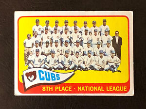 1965 Topps Chicago Cubs Team Card #91 EX Ernie Banks Billy Williams Ron Santo