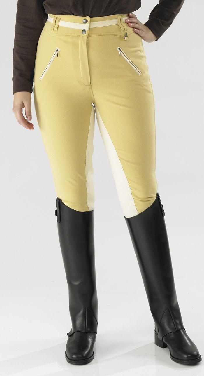 Toggi  Pantalones de montar de asiento completo de Athena-en Canarias, Invierno blancoo y arena en todos los tamaños  diseño único