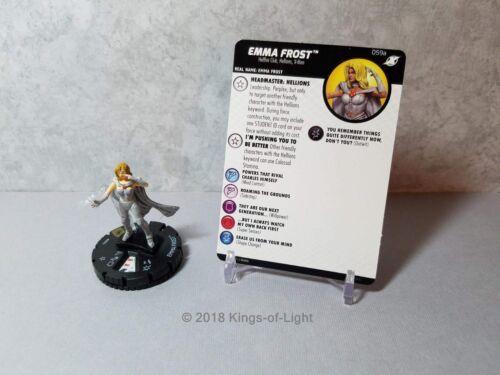 Emma Frost 059a Marvel X-Men Xavier/'s School HeroClix Miniature Super Rare