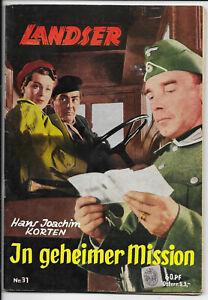Der-Landser-Nr-31-von-1957-TOP-Z0-1-ORIGINAL-ERSTAUSGABE-Pabel-Romanheft
