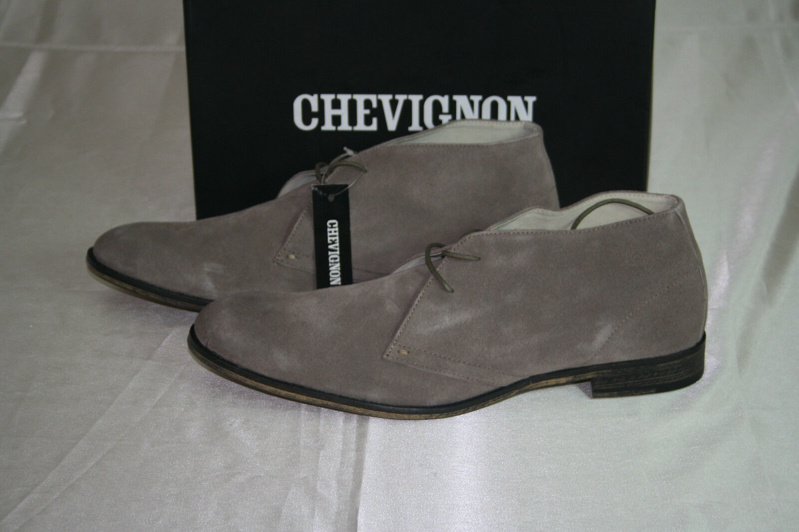 NEW CHEVIGNON Uomo TAUPE LEATHER LEATHER LEATHER SUEDE CASUAL LACES UP SHOES SIZE   12 EUR 46 fcf51e