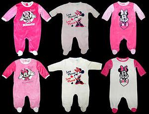 Schlafanzug Strampler Overall Disney Minnie Nicki Nikki 62 68 74 80 86 92 NEU