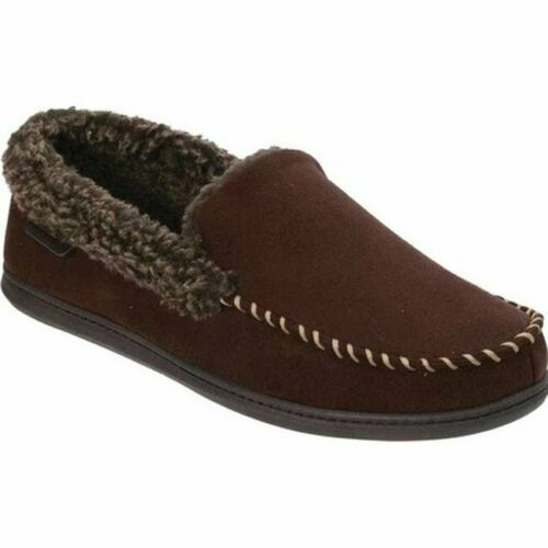 New Dearfoams Men/'s Memory Foam Slippers Indoor Outdoor Brown Coffee Pick Size