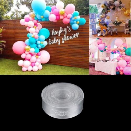 5M Ballonstreifen verbinden Kette Ballonbogen Dekor Kunststoff DIY Band WCH