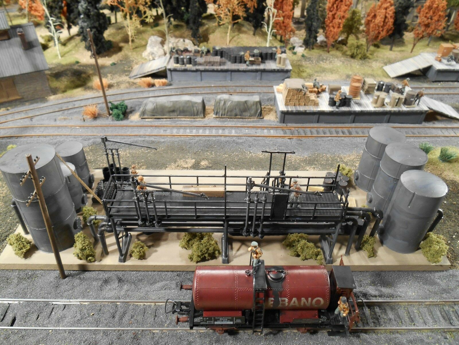 Ho Roco Roco Roco Minitank su Misura Dettagliato Esposto Alle Intemperie Carburante Depot 0229a1
