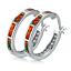 Opal-Creolen-Klapp-Stein-Silber-Farbe-Ohrringe-Damen-Frauen-Ohrschmuck Indexbild 9