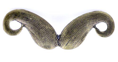 Vintage retro style bronze coloured moustache mustache double finger ring