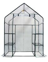 Small Greenhouse Walk In Compact 6 Shelf Shelves 3 Tier Vegetable Flower Garden