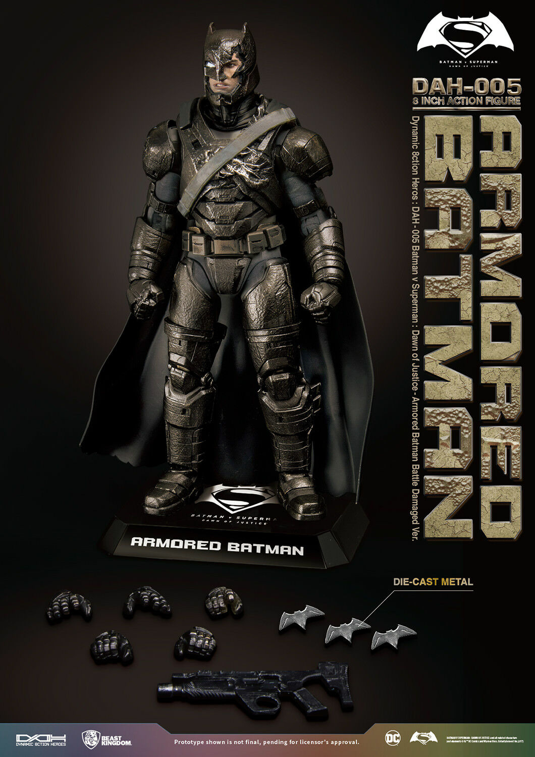 Dynamic 8-ction Armored Batman PX Damage Beast Kingdom BVS DAH-005 Exclusive 1 9