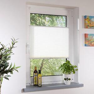 Das Bild Wird Geladen Klemmfix Plissee Faltrollo Blickdicht Fenster Klemm Rollo Weiss