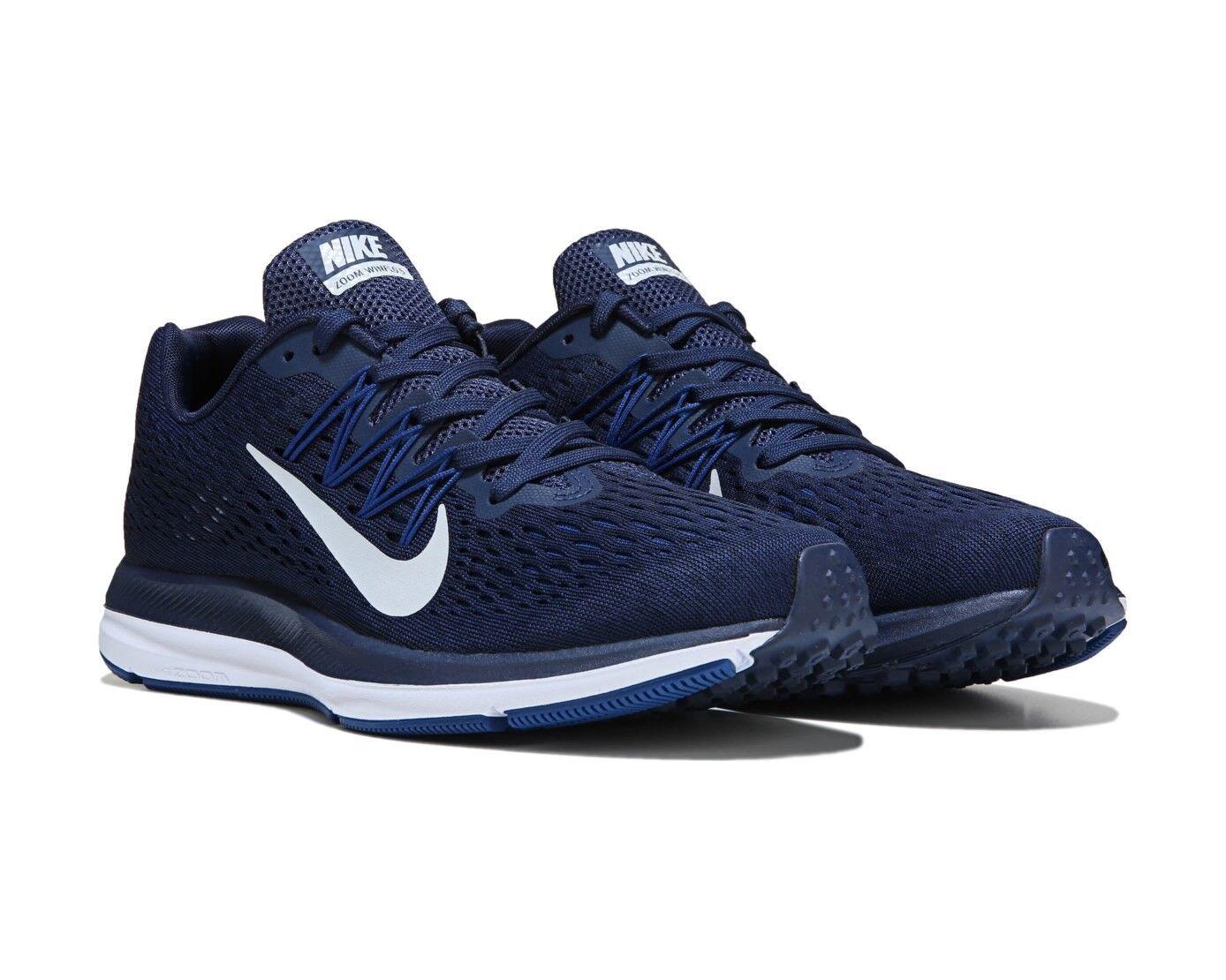 Nike Air Zoom Winflo 5 Men's Running Shoe Navy / Dark White AA7406-401