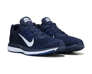 wholesale dealer 51e69 274d1 Details about Nike Air Zoom Winflo 5 Men's Running Shoe Navy / Dark White  AA7406-401