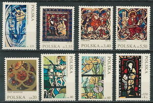 Poland stamps MNH (Mi. 2102-09) Glass paintings - Bystra Slaska, Polska - Poland stamps MNH (Mi. 2102-09) Glass paintings - Bystra Slaska, Polska