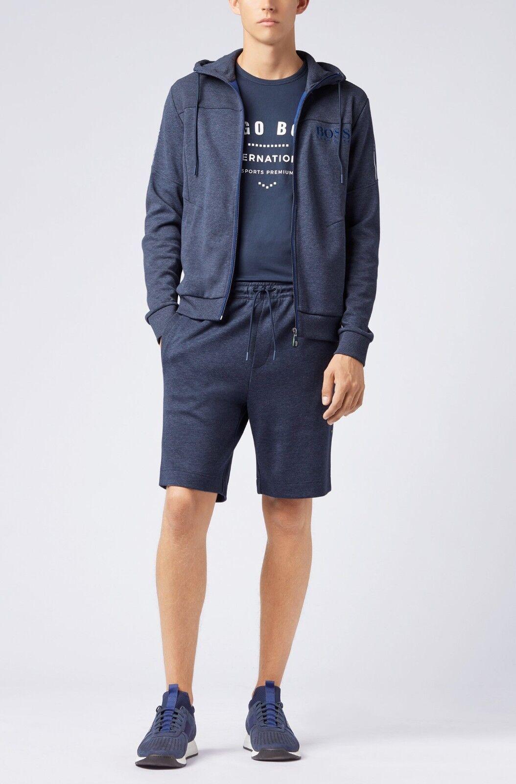 HUGO BOSS BOSS BOSS Hooded sweatshirt with contrast zip and logo detail Größe S 2995c2