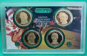 "2010-S  PRESIDENTIAL PROOF SET FOUR GOLDEN DOLLAR COINS /""NO BOX OR COA/"" 4"