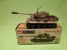 CORGI TOYS 900 MILITARY TIGER MK I TANK - ARMY CAMOUFLAGE - GOOD CONDITION