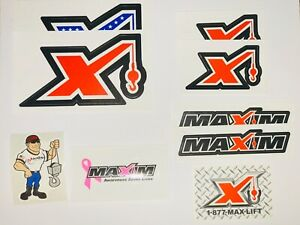 3 Maxim Stickers Maxim Crane Hard Hat Stickers.