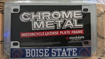Boise State BSU Broncos Heavy Duty Chrome Metal License Plate Frame