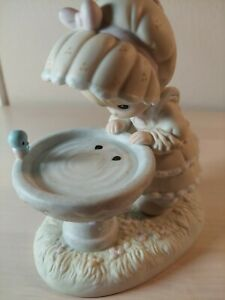 """A Reflection Of His Love"" Precious Moments Figurines Religious Bird Bath No Box"