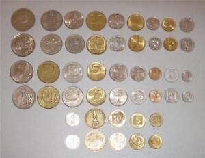 Complete-coin-set-of-Israel-Lira-Old-and-New-Sheqel-23-oins