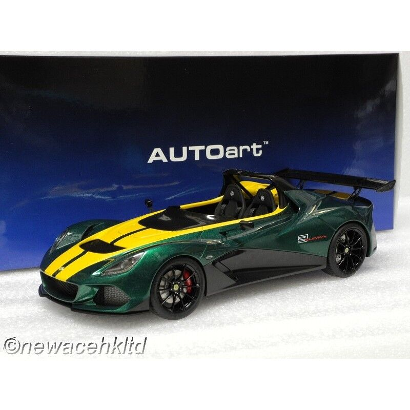 LOTUS 3-ELEVEN verde W/ giallo ACCENTS AUTOART MODEL 1/18  75392