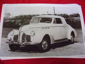 1940 PONTIAC  CONVERTIBLE   BIG 11 X 17  PHOTO /  PICTURE