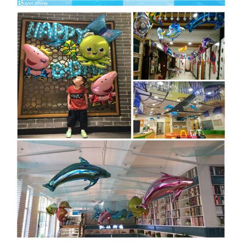 Meertiere Themen Ballon 6pcs Helium Ballon Luftballon Folienballon Perfekt