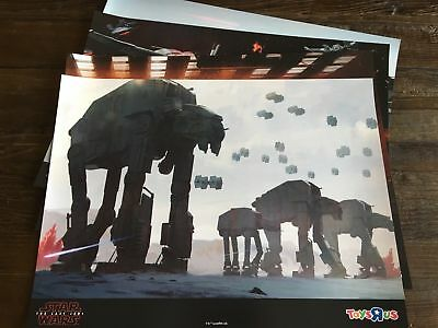 – Exclusive Toys R Us bonus TRU Star Wars The Last Jedi Poster Set Set of 4