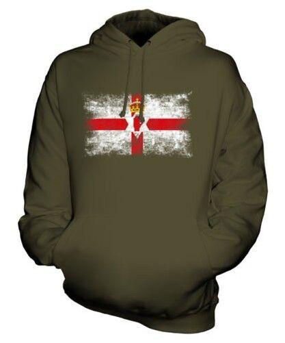 Nordirland Distressed Flagge Unisex Kapuzenpulli Top Irisch Fußball-geschenk
