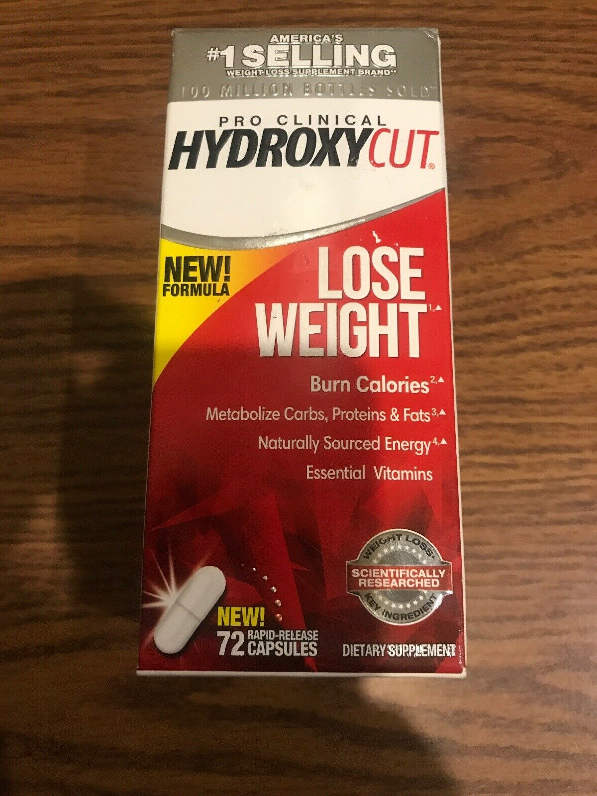 1 Of New Hydroxycut Pro Clinical Non  Stimulant Lose Weight 72 Caps. Exp: 04/21+